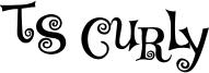 TS Curly Font