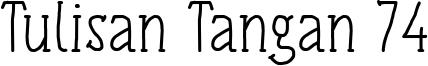 Tulisan Tangan 74 Font