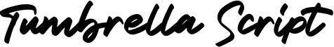 Tumbrella Script Font