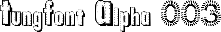 TungFont Alpha 003 Font