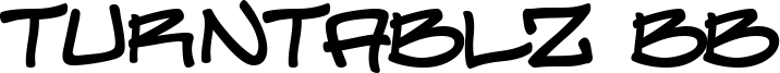 Turntablz BB Font