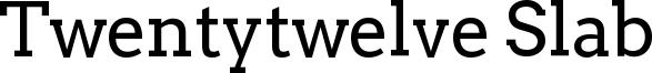 Twentytwelve Slab Font