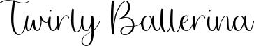 Twirly Ballerina Font