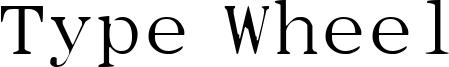 Type Wheel Font
