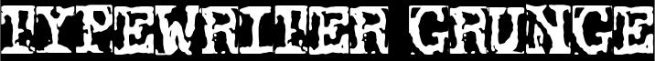 Typewriter Grunge Font