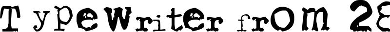 Typewriter from 286 Font