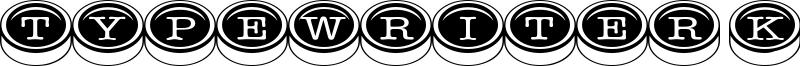 Typewriter Keys Font