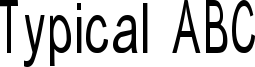 Typical ABC Font