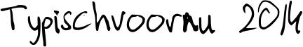Typischvoornu 2014 Font