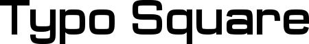 Typo_Square_Bold Demo.otf