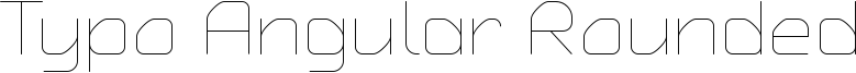 Typo Angular Rounded Font