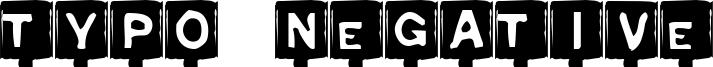 Typo Negative Font