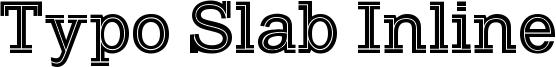 Typo Slab Inline Font