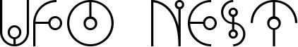 Ufo Nest Font