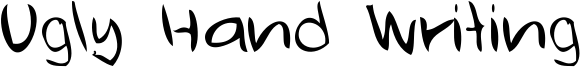 Ugly Hand Writing Font