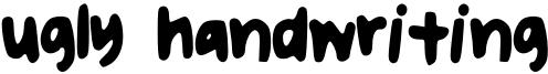uglyhandwriting2.otf