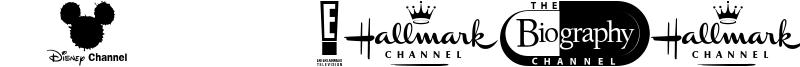 UK TV logos Font