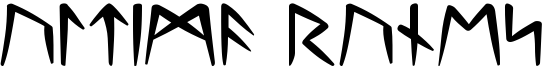 Ultima Runes Font