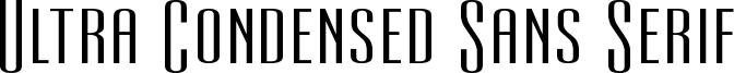 Ultra Condensed Sans Serif Font