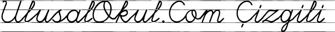 UlusalOkul.Com Çizgili Font