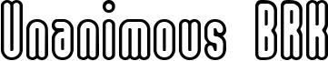 Unanimous BRK Font