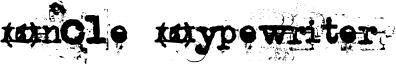 Uncle Typewriter Font