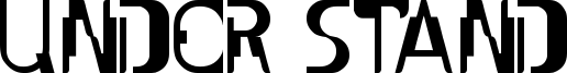 Under Stand Font