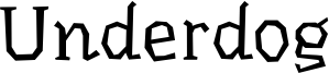 Underdog Font