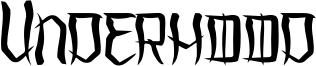 Underhood Font