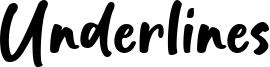Underlines Font