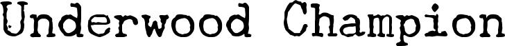Underwood Champion Font