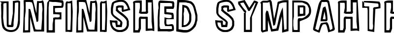 Unfinished Sympahthy Font