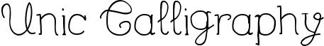 Unic Calligraphy Font