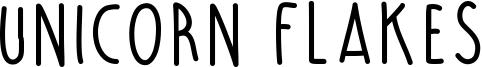 Unicorn Flakes Font
