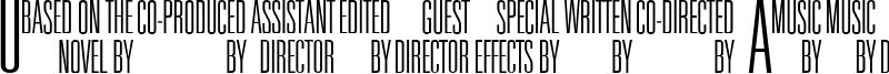 Universal Accreditation Font