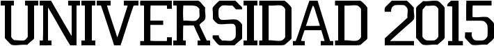 Universidad 2015 Font
