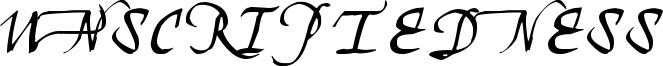 Unscriptedness Font