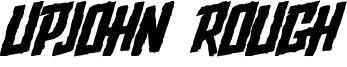 Upjohn Rough Font