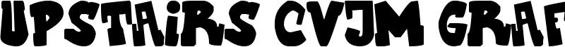 Upstairs CVJM Graff Font
