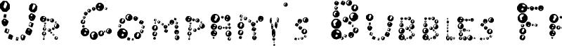 Ur Company's Bubbles Fantasy Font