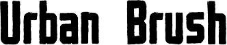 Urban Brush Font