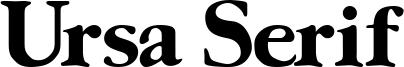 Ursa Serif Font