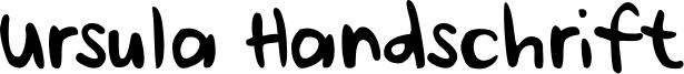 Ursula Handschrift Font