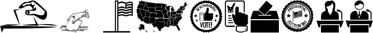US Election Font