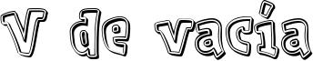 V de vacía Font
