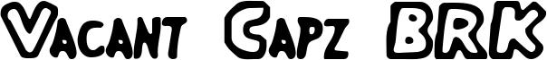 Vacant Capz BRK Font