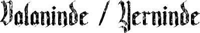 Valaninde / Yerninde Font