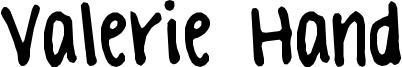 Valerie Hand Font