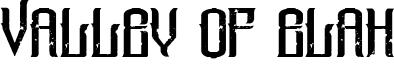 Valley Of Elah Font