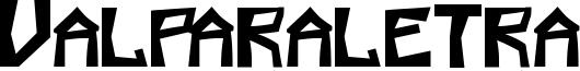 Valparaletra Font